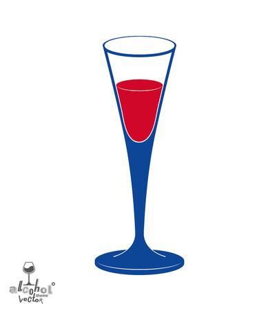 revelry: Classic vector champagne goblet, alcohol beverage theme illustration. Lifestyle graphic design element � anniversary celebration idea, eps8. Illustration