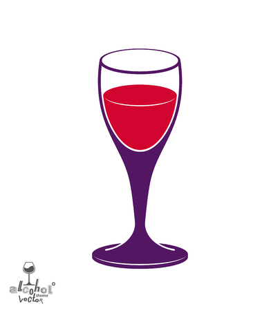 rendezvous: Holiday classic vector goblet, stylish alcohol theme illustration. Lifestyle graphic design element - romantic rendezvous idea, eps8. Illustration