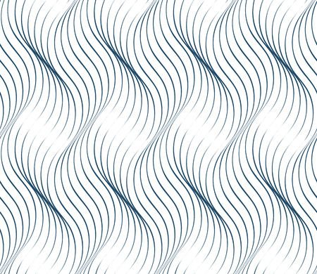 undulate: Black and white vector endless pattern created with thin undulate stripes, seamless netting composition. Continuous interlace texture can be used as website background and as wrapping paper.