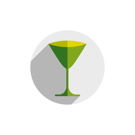 HoReCa graphic element, sophisticated martini glass. Alcohol theme conceptual symbol, party and leisure idea.