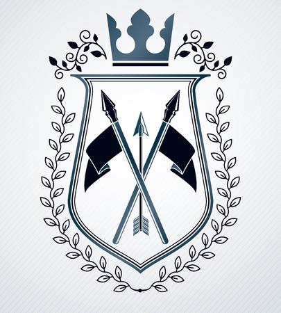 arsenal: Heraldic Coat of Arms, vintage vector emblem.