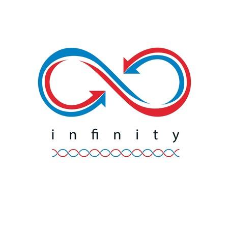 Infinity Loop conceptual logo, vector special sign.