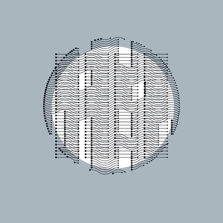 rhythm rhythmic: Abstract geometric composition, vector background.