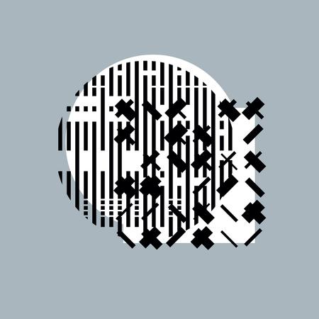 rhythm rhythmic: Abstract graphic art, vector geometric illustration.