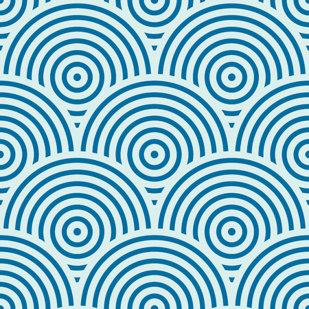undulate: Vector ornamental continuous background made using undulate lines, curves and circles. Bright composition can be used as wallpaper pattern. Illustration