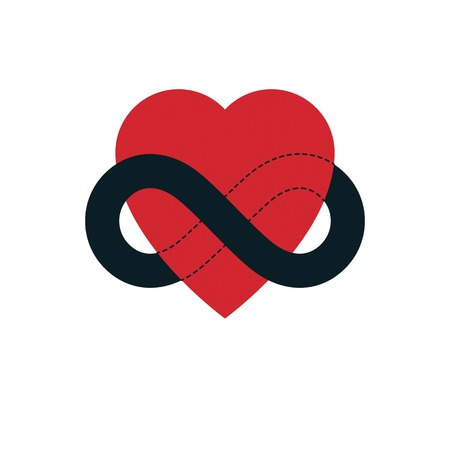 Everlasting Love Concept Vector Symbol Created With Infinity