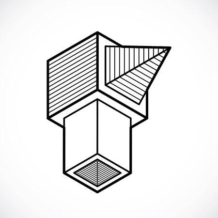 forme: forme abstraite isométrique vecteur