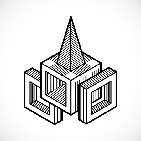 forme: Isometric abstract vector shape Illustration
