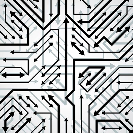 microprocessor: Vector electronic pattern with microchip scheme, circuit board high tech futuristic background. Digital connections and arrows.