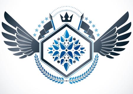 armory: Heraldic emblem isolated vector illustration. Illustration