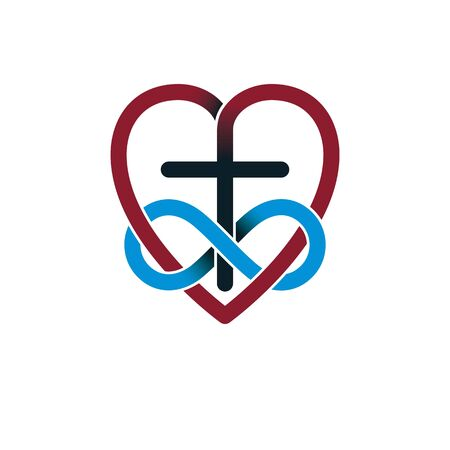 Everlasting Love Of God Vector Creative Symbol Design Combined