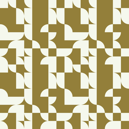 Graphic simple ornamental tile, vector repeated pattern made using geometric figures. Vintage art abstract seamless texture can be used as wallpaper and in textile design.