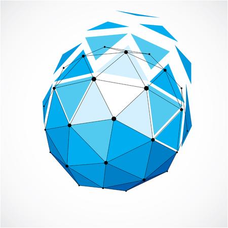 Perspektive Technologie Form mit schwarzen Linien und Punkten verbunden, polygonal Objekt Drahtgitter-. Zusammenfassung facettierte Element auf weiß für die Verwendung als Design-Struktur auf Kommunikationstechnologie Thema isoliert Standard-Bild - 75794097