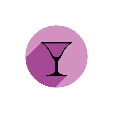 Classic martini glass, alcohol and entertainment theme illustration. Party lifestyle graphic goblet isolated. Illustration