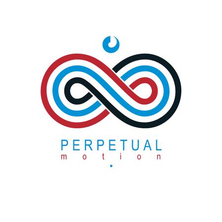 Eindeloze Infinity Loop vectorsymbool, conceptueel speciaal embleemontwerp.