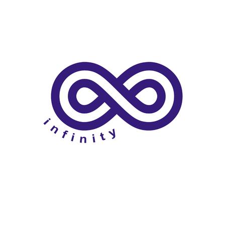 Endless Infinity Loop vector symbool, conceptuele logo speciaal ontwerp. Stock Illustratie
