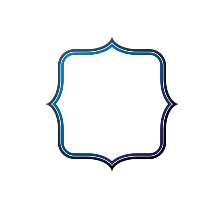 armory: Antique frame with empty copy-space, vector security shield or shelter. Classic heraldic blank geometric shape