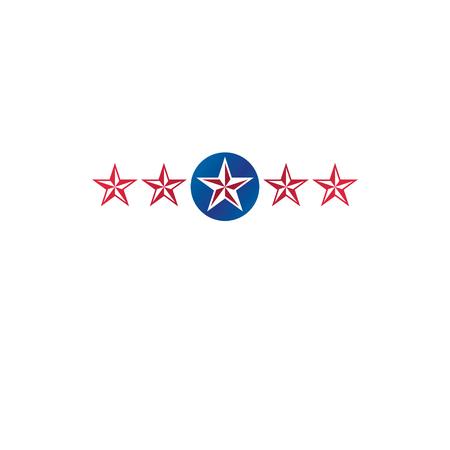 star award: Ancient Star emblem. Heraldic vector design element, 5 stars award symbol.  Retro style label, heraldry logo.