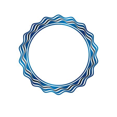 Luxe rond frame met lege kopie-ruimte, klassieke heraldische lege ronde vorm gemaakt met golvende strepen en rondingen. Retro-stijl label, decoratieve zegel.