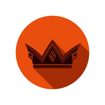 Royal design element, regal icon. Stylish majestic 3d crown, luxury coronet illustration. Imperial three-dimensional symbol. Illustration
