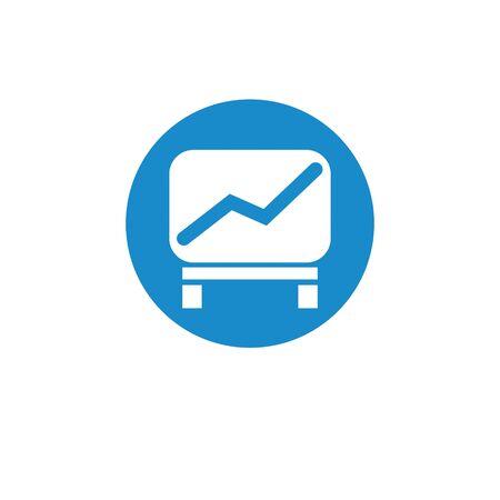 Finance icon. Vector illustration isolated on white background. Bar chart symbol. Illustration