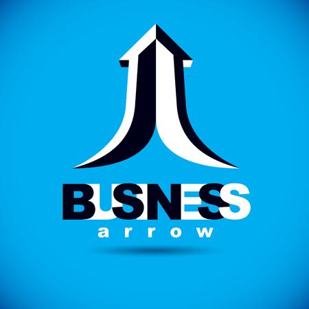 Vector rising arrow. Business success conceptual . Company development trend.