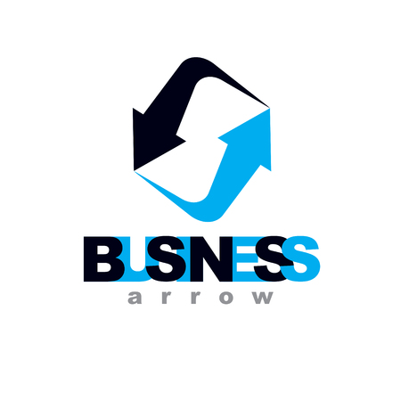Business innovation logo isolated on  white background. Vector boost up arrow, graphic design element. Company increasing  concept.