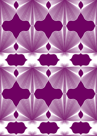 Continuous vector pattern with graphic lines, decorative abstract background with geometric figures. Colorful ornamental seamless backdrop, can be used for design and textile.