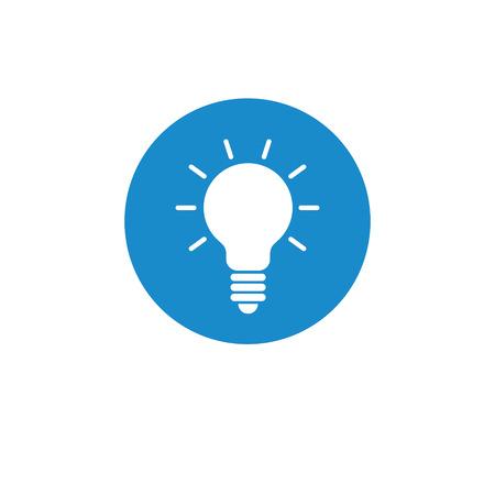 Finance icon. Vector illustration isolated on white background. Light bulb symbol. Illustration