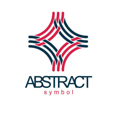 Vector abstract geometric shape best for use as business development logo, symbol. Modern logothype isolated on  white background.