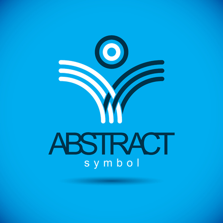 Vector geometric shape best for use as corporate identity abstract logo, symbol. Creative logothype, emblem.