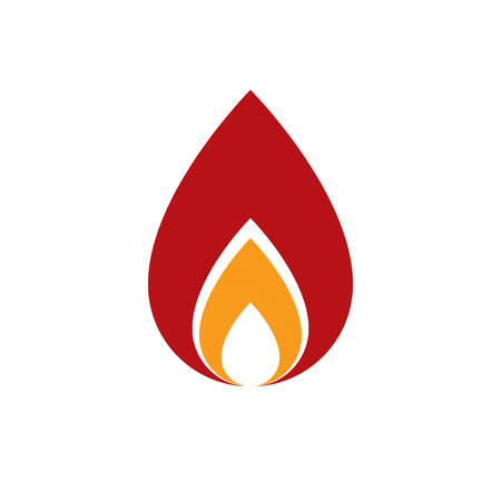 passion  ecology: The power of burning flame, fire element abstract vector illustration for use in graphic design.
