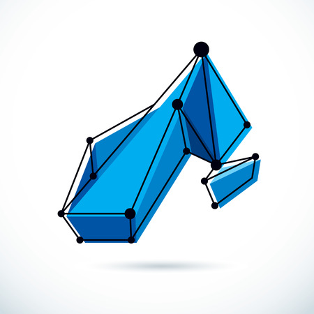 Abstract isometric construction, low poly vector backdrop. Technology and science conceptual  illustration.