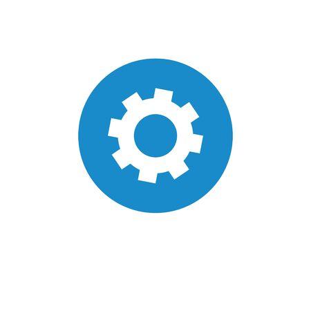 Finance icon. Vector illustration isolated on white background. Setting symbol. Illustration