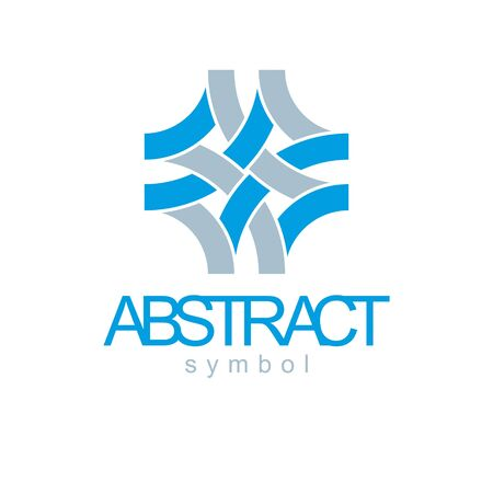 Vector abstract geometric shape best for use as business innovation idea creative logo, icon. Modern logothype, emblem isolated on  white background. Illustration