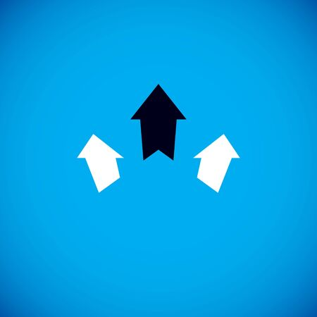 Vector boost up arrow, graphic design element. Corporate development logo. Company increasing  concept.