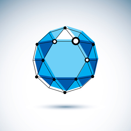 New technology symbol. Isometric abstract vector low poly shape, digital science theme illustration.