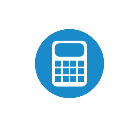 electronic commerce: Business, finance icon. Vector illustration isolated on white background. Calculator symbol.