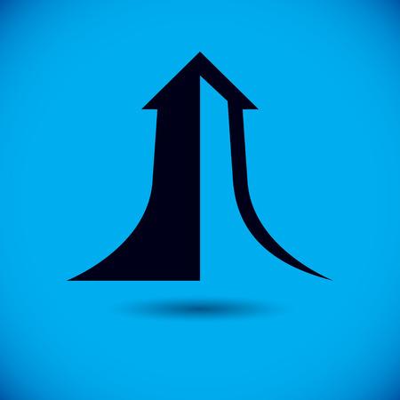 Vector rising arrow. Business development . Company increasing  concept.