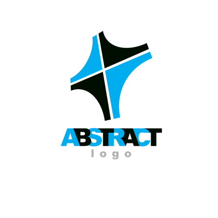 Vector geometric conceptual shape can be used as successful business career abstract logo.