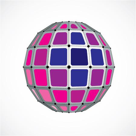 résumé , vecteur , low poly objet avec des lignes noires et des points de soleil 3d de triangle 3d avec des lignes de chevauchement de chevauchement et de marquage