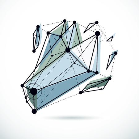 gray dot: 3D engineering vector backdrop, abstract polygonal shape. Construction industry illustration. Illustration