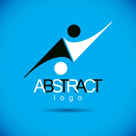 Vector abstract geometric shape best for use as corporate development symbol.