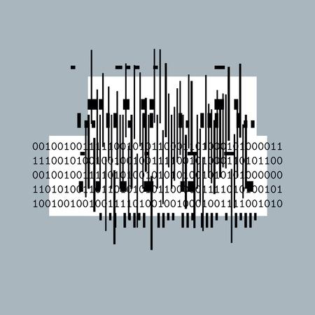 rhythm rhythmic: Vector geometric composition, abstract graphic art.