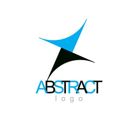 Vector conceptual geometric form emblem