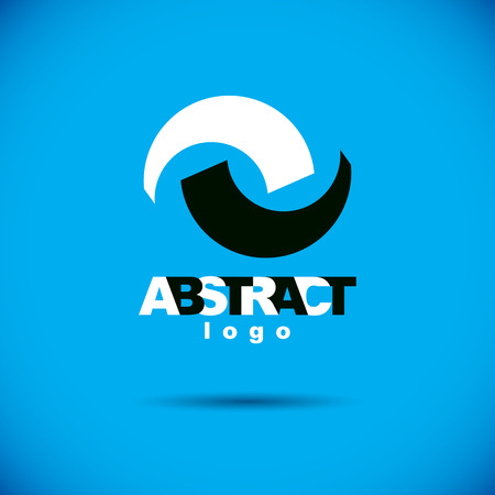 Vector art abstract figure. Creative business icon.