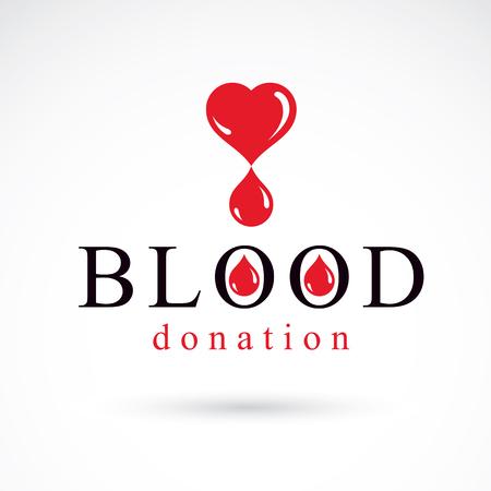 Blood donation conceptual illustration