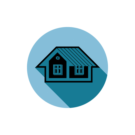 Simple house detailed vector illustration. Property developer conceptual icon, real estate emblem.  Building  projects abstract symbol.