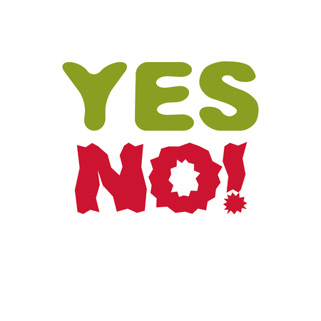 Yes no checkmark. Vector voting sign, choice metaphor isolated on white. Stock Vector - 85487490