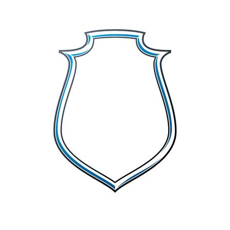 Victorian art vector frame with blank copy space, vintage heraldic design. Heraldic template illustration, mirror border, decorative protection shield.